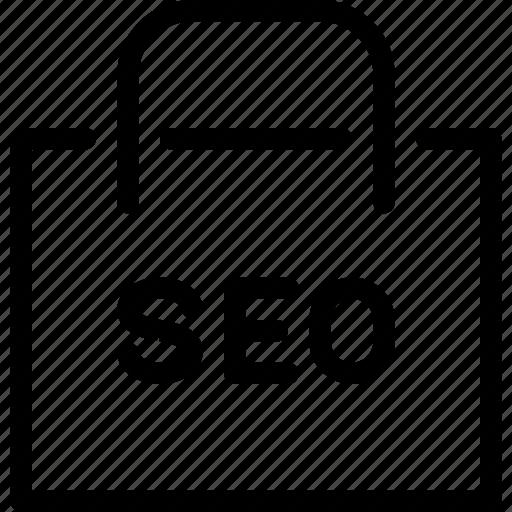 bag, online, optimization, seo, shopping icon