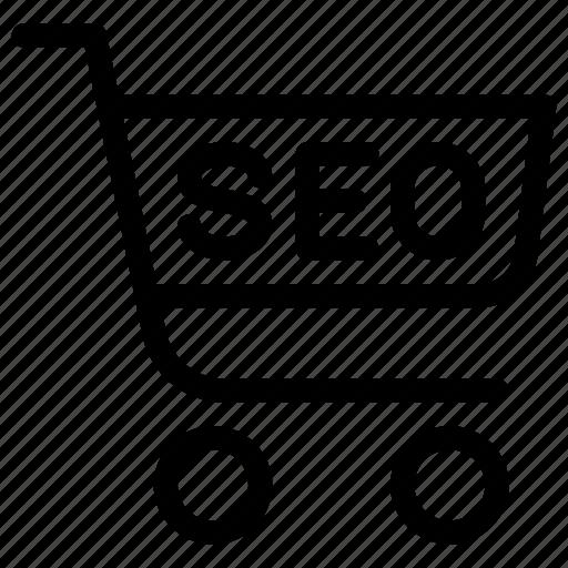 bag, cart, seo, shop, shopping icon