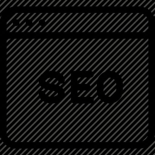 internet, optimization, search, seo, webpage icon