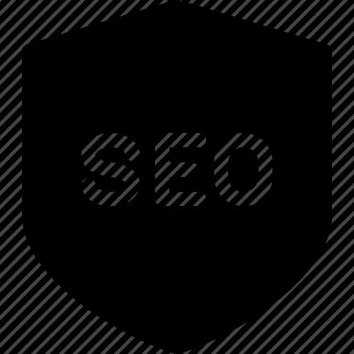 defense, optimization, search, seo, shield icon