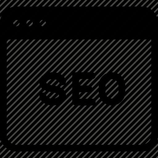 online, optimization, seo, webpage, website icon