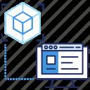 app development, browser, graphics software, product development, software design icon