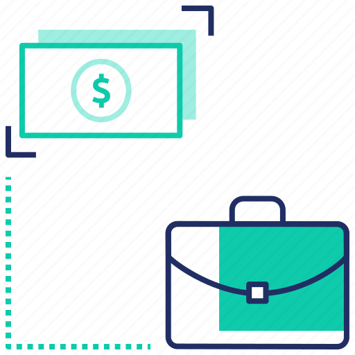 briefcase, budget, business, cash, investment, planning, seo icon