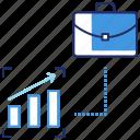 briefcase, invest trust, investment, marketing, seo, statistics