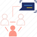 chat, communication, connection, conversation, user account icon