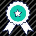 achievement, award, badge, best, quality, reward icon