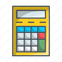 accounting, calcolator, calculate, device, math, mathematics icon