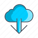 cloud, download, forecast, storage icon