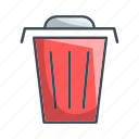 garbage, bin, delete, recycle, remove, trash