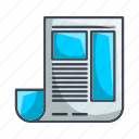 blog, feed, news, newspaper icon