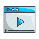 video page, youtube icon