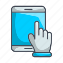 essential, fingers, hand, interaction, swipe, tablette, touch icon