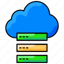 cloud server, cloud storage, data transfer, database, server icon