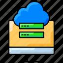 cloud storage, data transfer, database, upload data icon