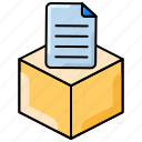 document, file, object editing, package, product icon