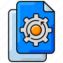 file processing, process, seo, settings icon