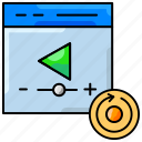 broadcasting, play, video player, website icon