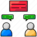 business, communication, consulting, conversation, message icon