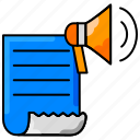 communication, marketing, media, seo, speaker, speech icon