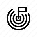 achievement, banner, flag, goal, mission icon icon