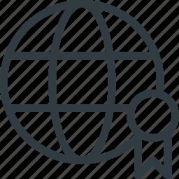 badge, global, page, quality, rank, seo icon