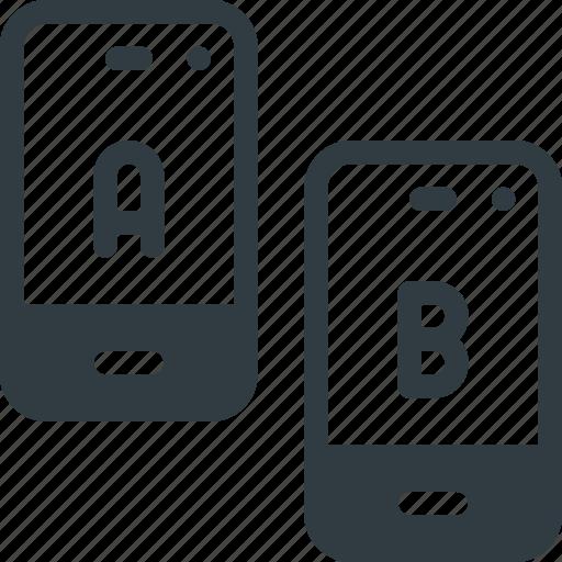 ab, app, comparing, split, test, testing icon