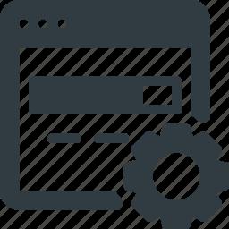 engine, optimization, search icon