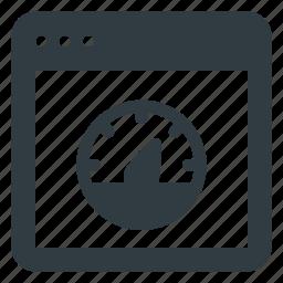 browser, network, speed, speedometer icon