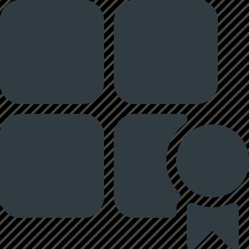 bookmark, category, rank, web icon