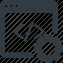 code, optimization, seo icon