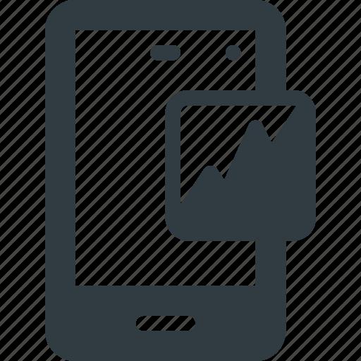analytics, diagram, marketing, mobile, seo icon