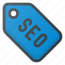 engine, label, marketing, optimization, search, seo, tag icon