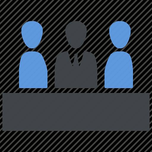 business meeting, team management, teamwork icon