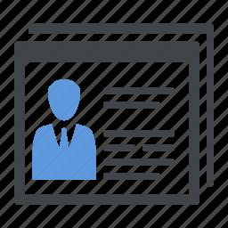 accessibility, cv, online profile, usability icon