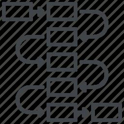 flow diagram, scheme, tasks, workflow icon