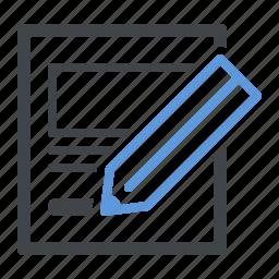 edit, sketch, usability icon