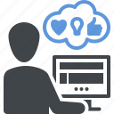 feedback, testing, usability, interface design icon