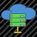 cloud, database, download, online, servers, storage, upload icon