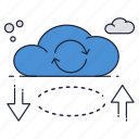 cloud, download, online, storage, sync, upload icon