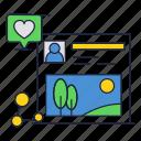 like, media, network, photo, profile, sharing, social