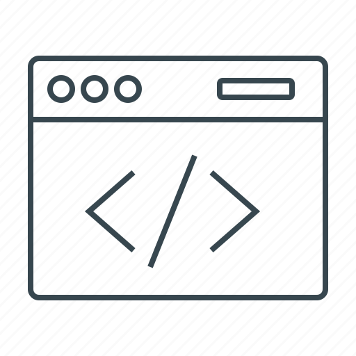 coding, optimization, seo, site, web, website icon