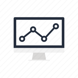 business, diagram, graph, market, monitoring, pc, seo icon