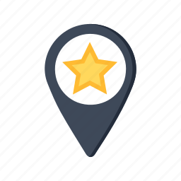 gps, map, optimization, pin, pointer, seo, star icon