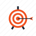 aim, arrow, goal, seo, setting, target, win icon