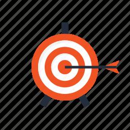 aim, arrow, goal, seo, setting, target, win icon