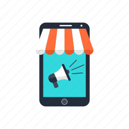advertising, marketing, mobile, seo, shop, smartphone, web icon