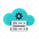 backup, cloud, optimization, search, seo, server, settings icon