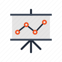 analysis, diagram, graph, presentation, seo, staff, training icon