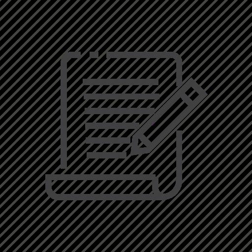 blog, content, copywriting, document icon