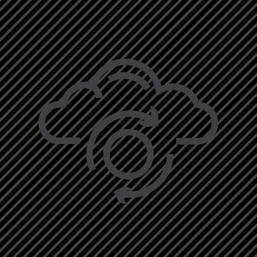 cloud, file, storage, sync, synchronization icon